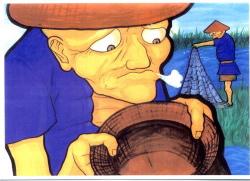 甚平さんと河童の画像2です