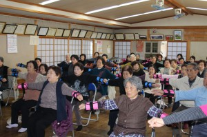 「松橋町竹崎地区で「いきいき百歳体操」がスタートしました!」に関する画像