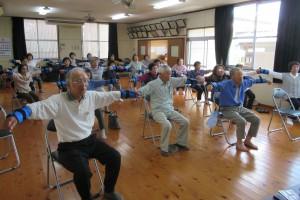 「松橋町本村地区で、いきいき百歳体操がスタートしています。」に関する画像