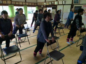 「三角町上中内地区でいきいき百歳体操が始まりました。」に関する画像