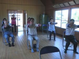 「松橋町沖塘地区でいきいき百歳体操が始まりました。」に関する画像
