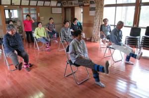 「三角町向山地区でいきいき百歳体操が始まりました。」に関する画像